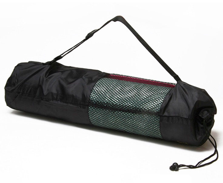 Customize Portable Drawstring Yoga Mat Mesh Bag