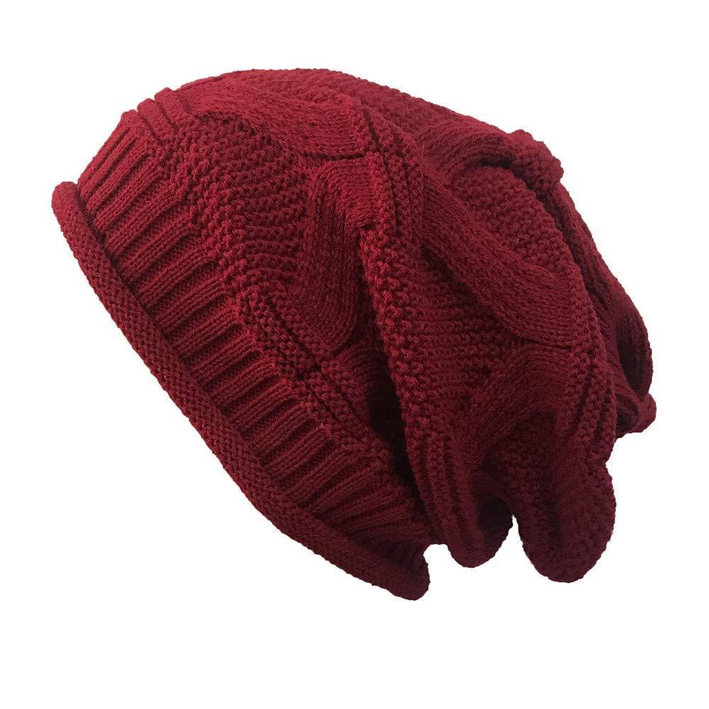 Londony Hats & Caps,Women Casual Outdoor Knitted Hats Crochet Knit Hip-hop Cap Woolen Caps