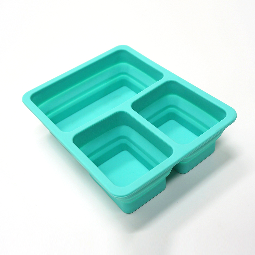 Wholesale durable foldable silicone bento lunch box