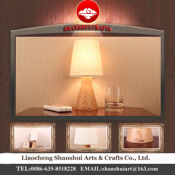 Shandong Shanshui New Chinese Style Wood Bedroom Table Lamp Base ...