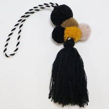 Decorative Black Mini Cotton Tassel Pom Pom Tassel