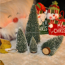 High quality mini tabletop artificial flocked christmas tree for car