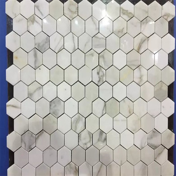 Colored Hexagon Marble Mosaic Bathroom Floor Tile Buy Colored
