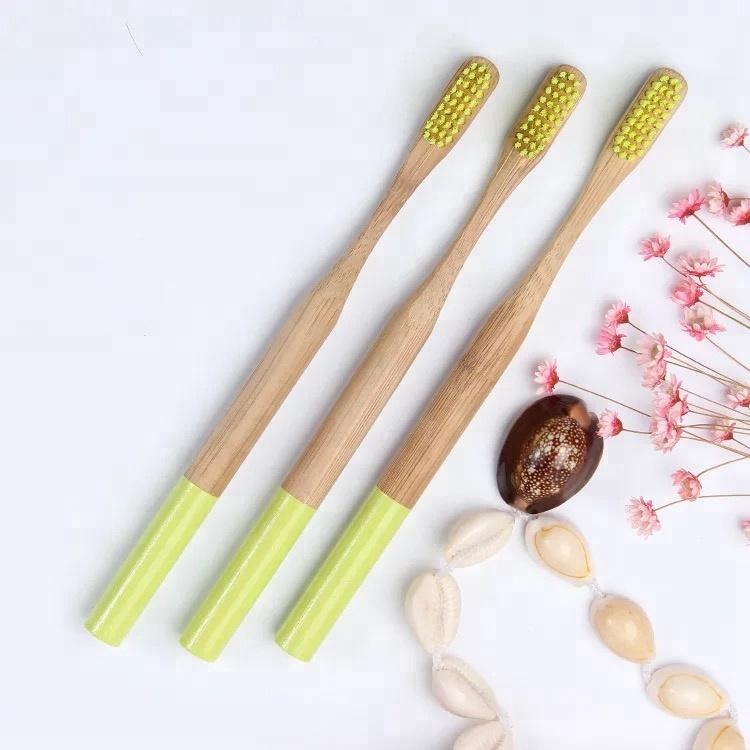 Logo personnalisé boîte 100% Nature biodégradable écologique brosse à dents en bambou avec des poils doux sans BPA pour adultes et enfants