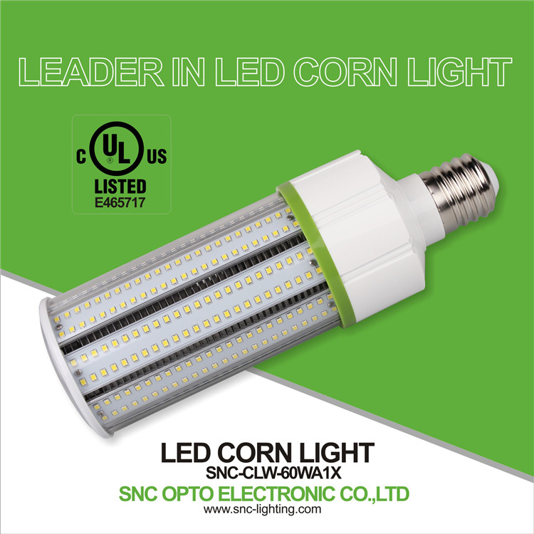 Ul cUL safety certification led corn light bulb 60watt with good heat dissipation
