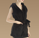 Latest Real Knitted Women Genuine Rabbit Fur Hooded Fringed Vest