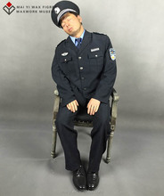 General people sleepy security man silicone wax figures