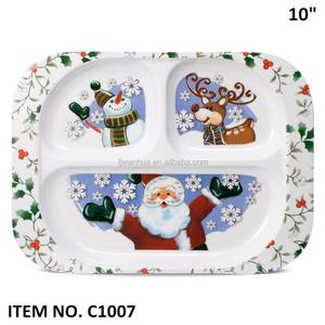Melamine Christmas Platters.Melamine Christmas Tray With Dividers For Kids