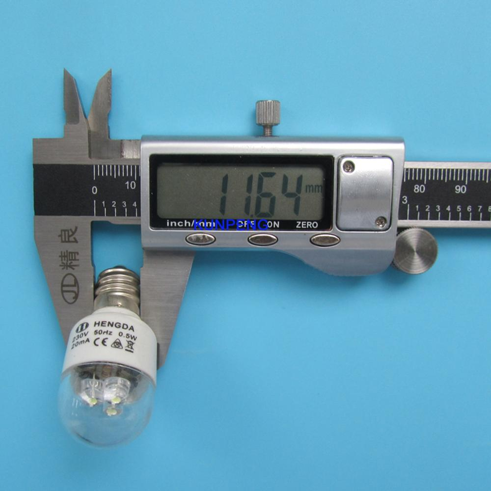 LED Light Bulbs for Home Sewing Machine 0.5W 220 Volts Screw Type 2PCS