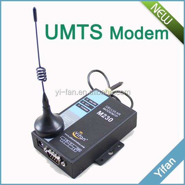 M230-H industrial modem for AMR energy meter RS232 RS485 3g serial modem