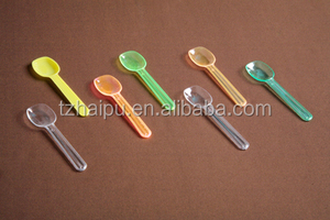 Wholesale disposable plastic cutlery/plastic mini spoon for ice cream /plastic ice cream spoon