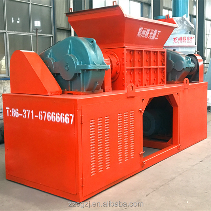 Double Shaft Shredder for Plastic PE PP Pet ABS PC Nylon Lump and Block