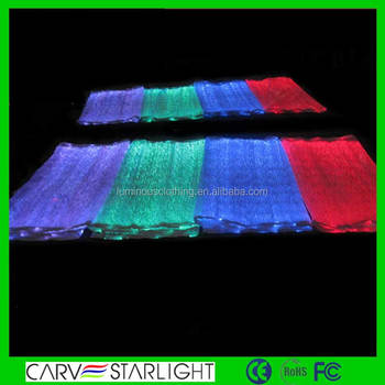 Led Lighting Fiber Optical Fabric With Rgb Changeable Colors ...