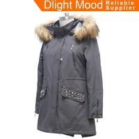 Designer ladies winter coats,winter parka for girls