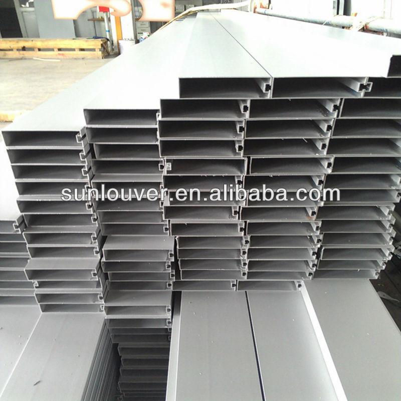 Aluminum Rectangular Tube Frames /aluminum Box Louver For Building ...