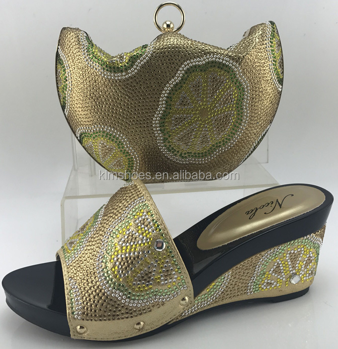 italian set and shoes set african shoes and bag bag yellow ME7708 design Latest PqpEwOZ