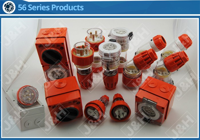 Australia IP66 4 Round Pins 40A 500V Electrical Waterproof Industrial Plug