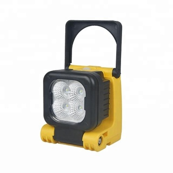 12W portable rechargeable led work light CREE 3W yellow work lamp