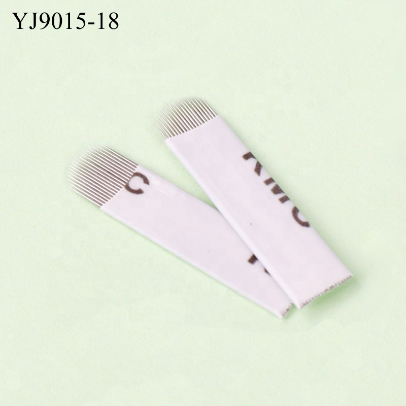 Alibaba.com / Hot Many Size White Cover Manual Tattoo Shading Blade U Blade Microblading for Permanent Makeup