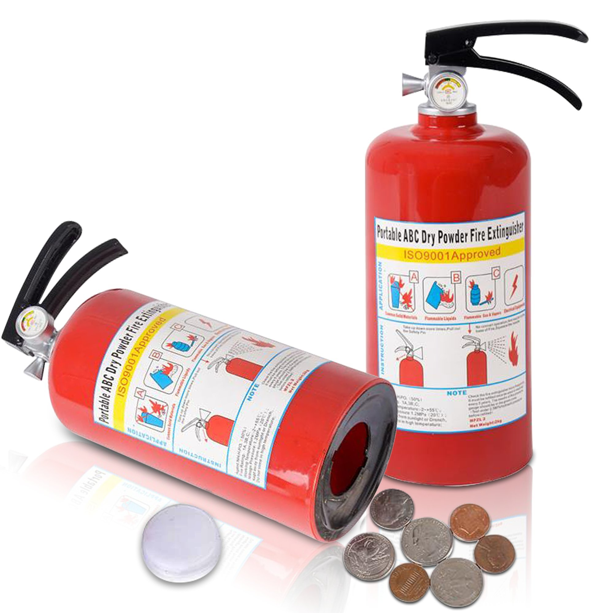 """ArtCreativity 8"""" Fire Extinguisher Coin money Bank for Kids 