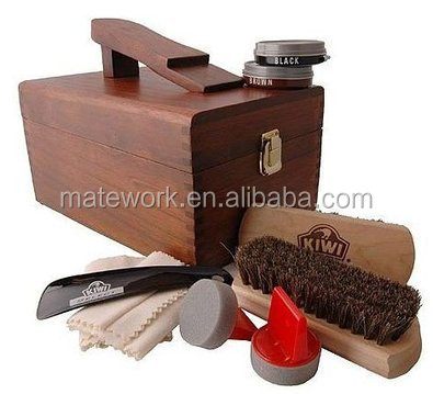 the latest 50% price skate shoes Shoe Shine Care Kit,Wooden Box