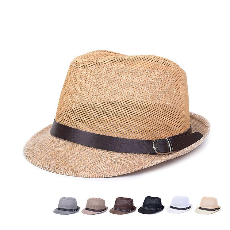 469473f2491 Get Quotations · 2015 unisex Fedora Trilby Gangster Cap For Women Summer  Beach Sun hats Straw Panama Hat Jazz
