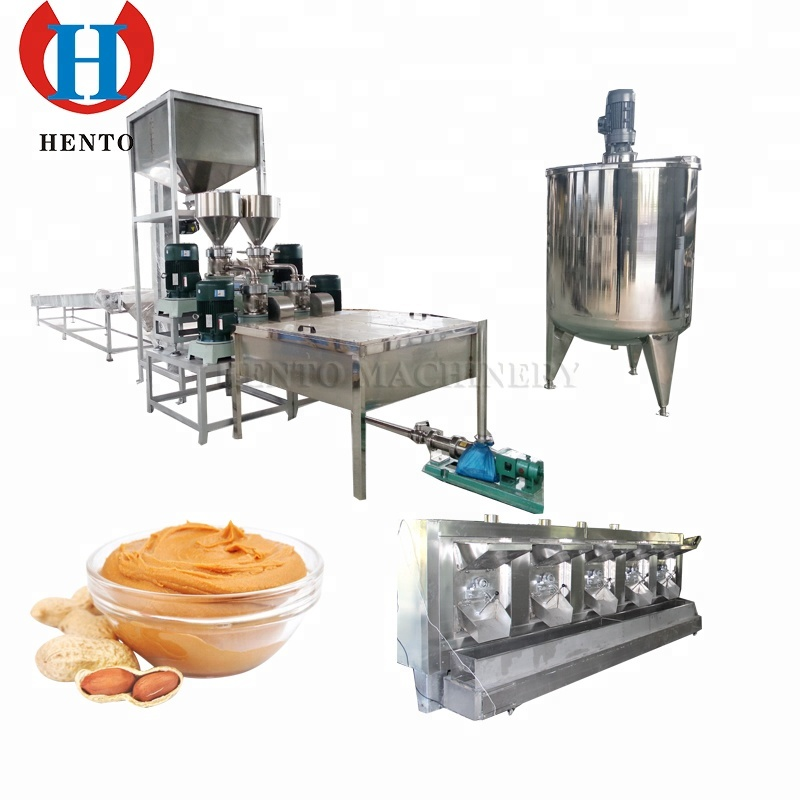 Professional Factory Automatic Industrial Peanut Butter Making Machine / Peanut Butter Production Line