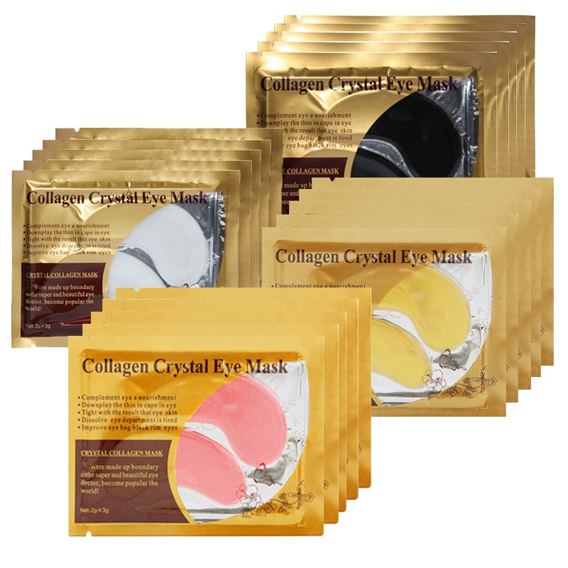 ฉลากส่วนตัว Gold Crystal Collagen Anti - wrinkle, Anti Aging Eye Mask Eye Eye Mask