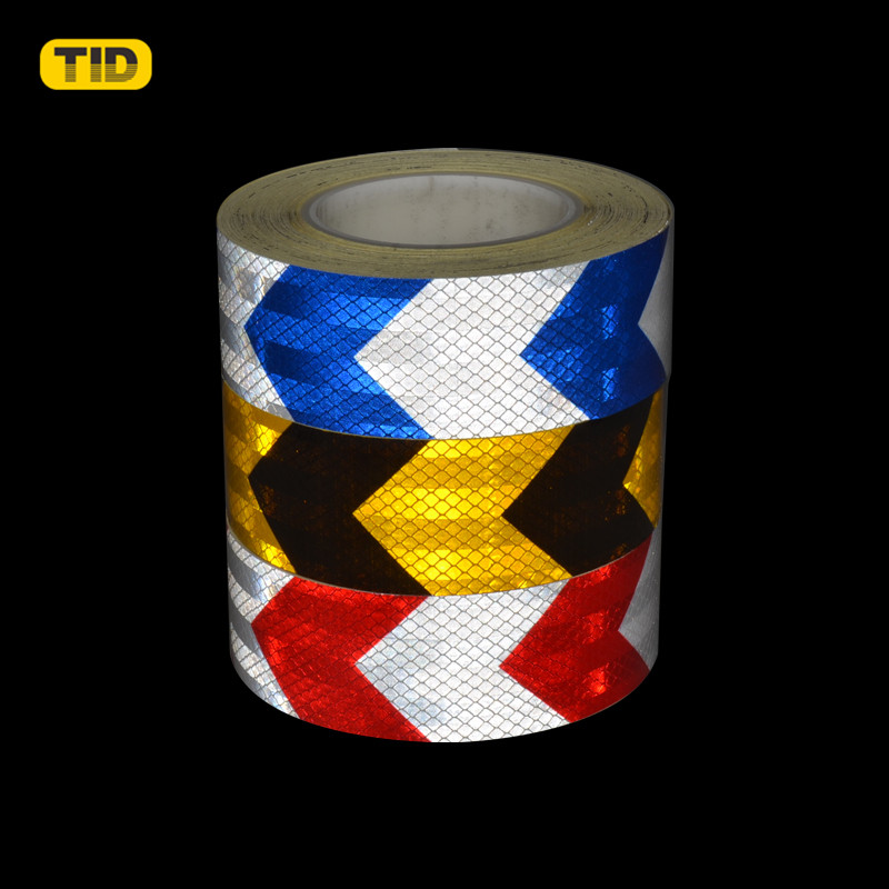 Blue /& White High Intensity Chequer Reflective Tape Self-Adhesive 50mm×1 Meter