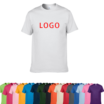 Top Quality 100% Cotton Men T-Shirt With Printing Custom Your Brand Logo T Shirt