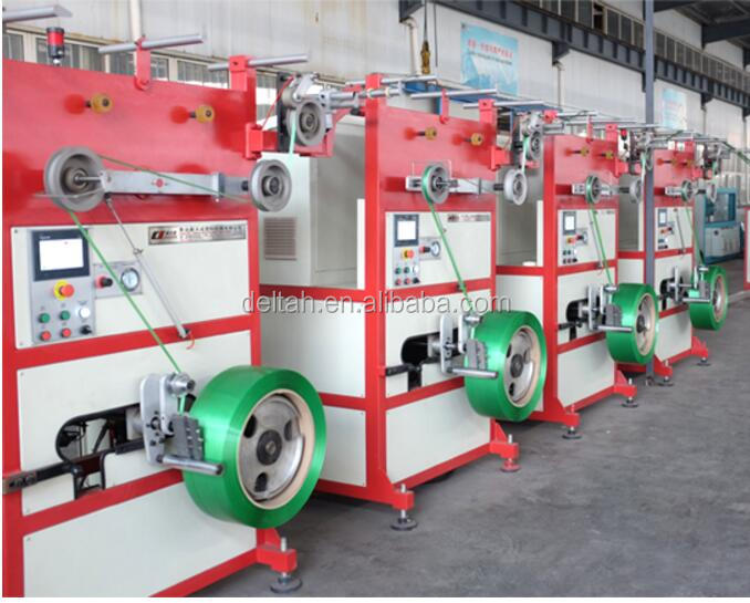 Tensile embossed PP/PET packing strap tape servo motor Coiling machine