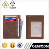 Hot style fancy name card holder wholesale top grain business leather card holder