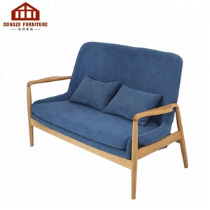 Wooden double Sofa Chair with solid oak frame for living room
