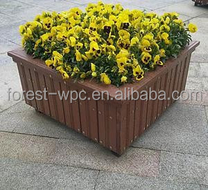 grandes jardineras flores macetas macetas de flores baratas de material wpc