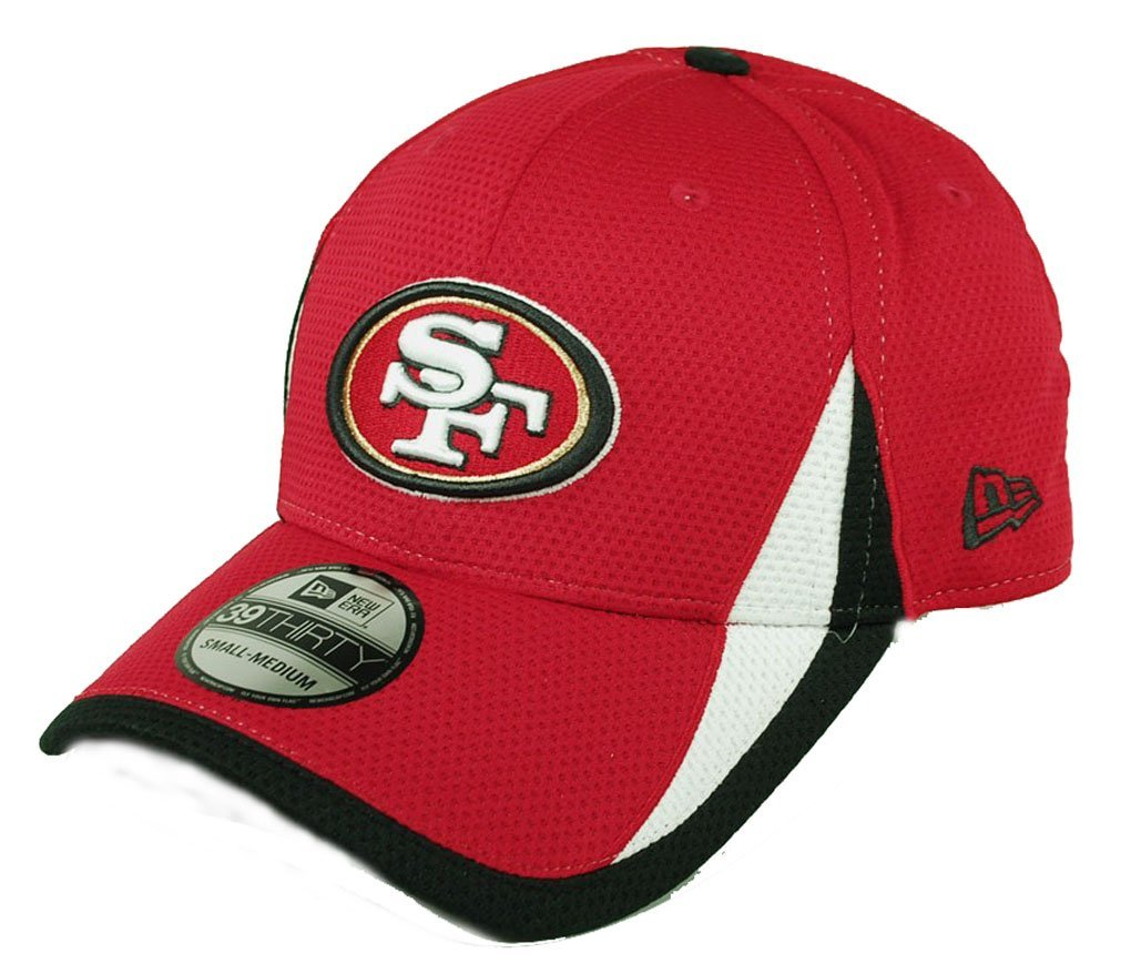 Get Quotations · San Francisco 49ers Red 39Thirty New Era Flex Fit Training  Hat 3e795947e2f