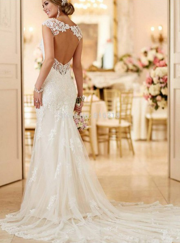 2019 sexy new style woman lace gown wedding dress fishtail wedding dress