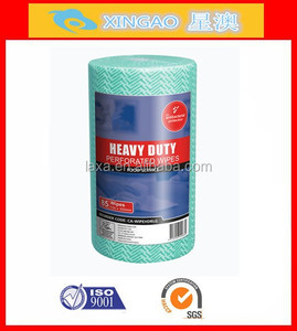 light weight multi purpose nonwoven cleaning cloth roll,chemical bond cleaning wipes,J cloths