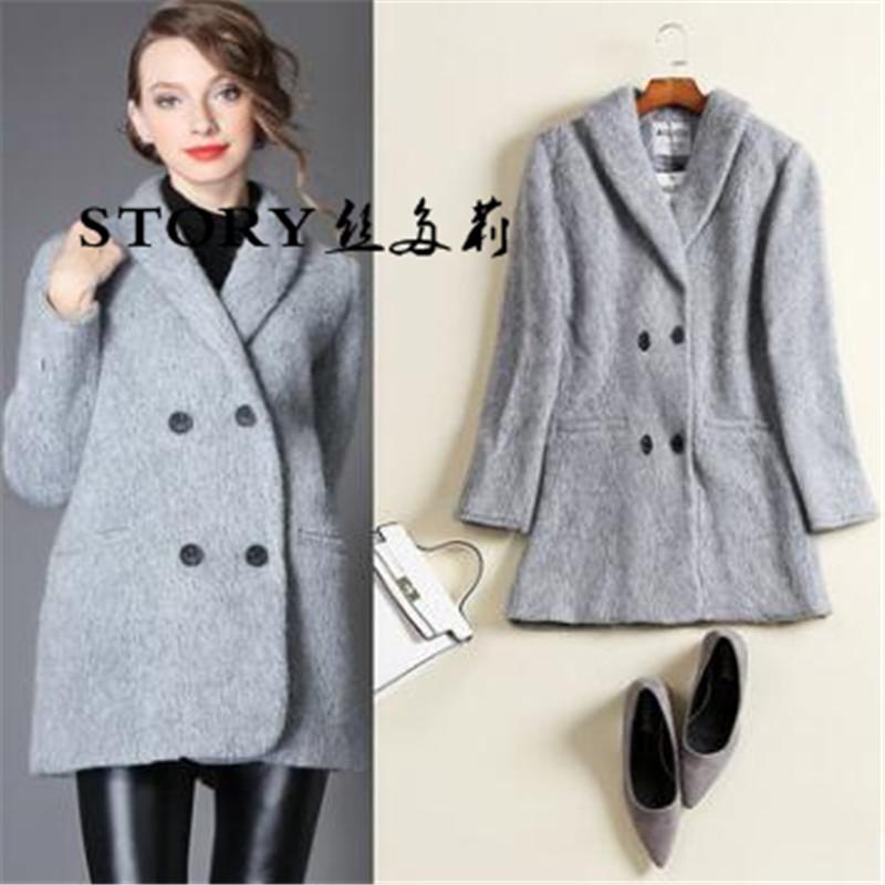 Venta al por mayor abrigo tres cuartos mujer-Compre online los ...