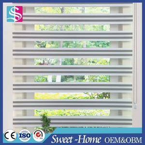 light filtering horizontal sheer roman elegance shades, double layer day and night roller blind with cassette