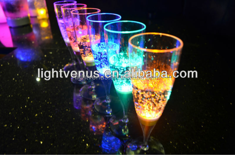 Wholesale Plastic Glasses China Factory/Christmas Use Disposable Plastic Cups/Personalized Birthday Champagne Flute Glasses