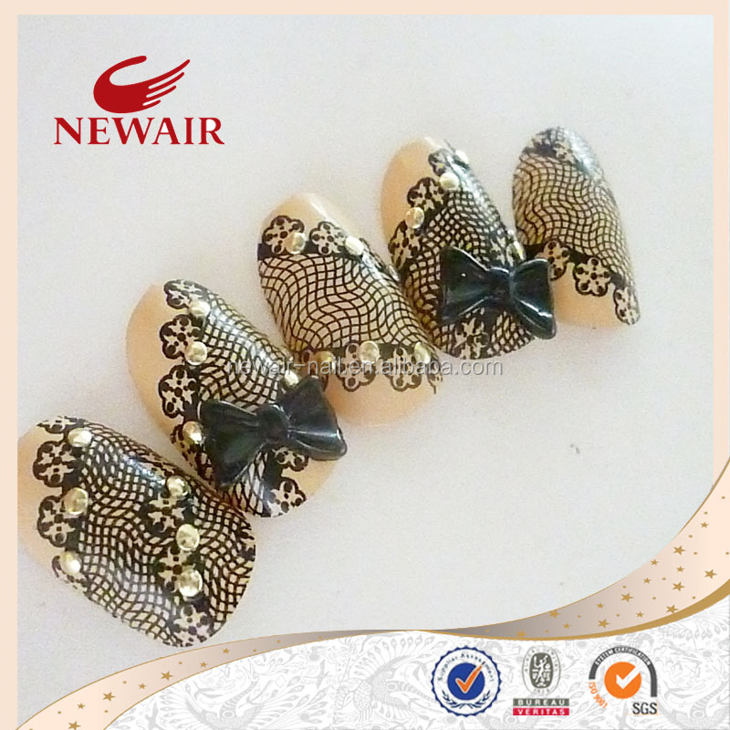 Vivi nail fingers beauty equipment Lace 3DF oval nail tips