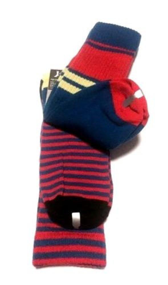 Nike 2 Pairs/Pack High Crew Socks, Youth, Red/Blue/Neon, 3Y-5Y