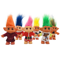 Classics Vinyl Toy Colorful Hair Clothes Troll Doll Plastic Capsule Toy Dam Trolls For Children Gifts