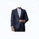 Summer new wool silk suit men's suit trim business leisure half - lined thin style