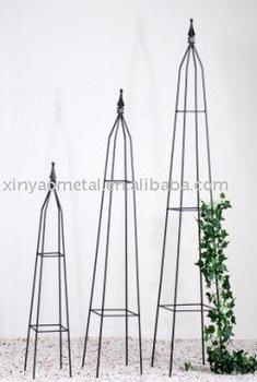 Obelisk Metal Garden Obelisk Square Tube Metal Obelisk Garden Obelisk  Trellis BS090003