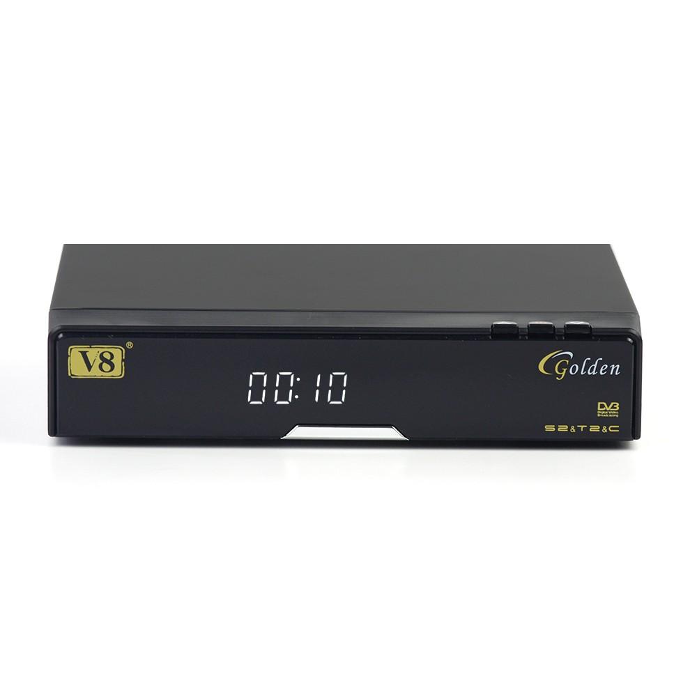 Digital Terrestrial Tv Receiver Set Top Box V8 Golden Dvb S2&t2& C Iptv Box  Indian Channels Cccam Server - Buy Iptv Box Indian Channels,Digital