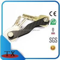 customs shape popular carbon fiber key holder keychain