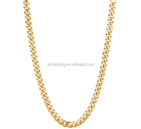 14kt Yellow Gold Cuban Curb Link Mens New Design Cheap Chain Necklace 5MM