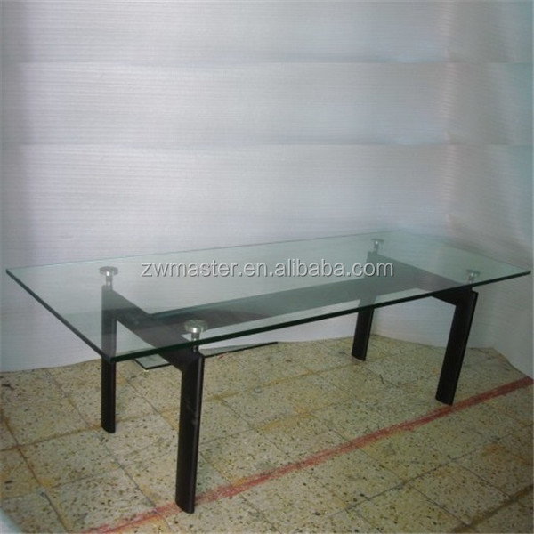Classic Design Square Top Lc6 Le Corbusier Glass Dining Table - Buy ...