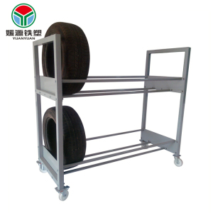 Factory wholesale metal warehouse car truck tyre steel storage shelf mobile display tire rack